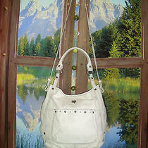 Lucky Brand  Sunset Junction Convertible White Leather Hobo 327 Photo