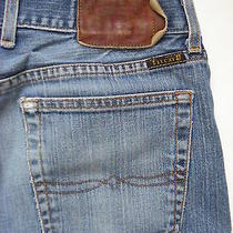 Lucky Brand Sz 30 Reg X 32  Mens Fender Jean Stretch Distressed Wash Made in Usa Photo