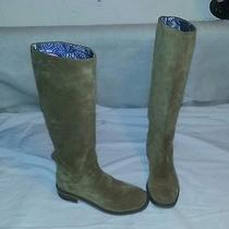 Lucky Brand Tan Addison Suade Tall Boots Leather   Us 9  Photo
