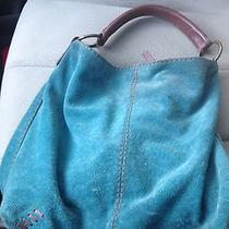 Lucky Brand Teal Suede Hobo Bag Photo