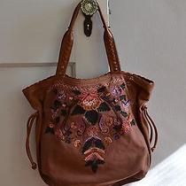 Lucky Brand Vintage Canvas Brown Hobo Bag Photo
