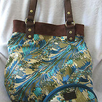 Lucky Brand Watercolor Trippin Out Tote Xl Handbag Purse Cosmetic Case Set  Nwt Photo