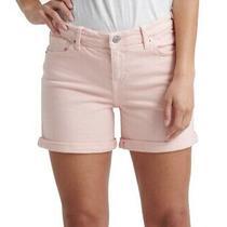 Lucky Brand Women's Casual Mini Shorts Blush Pink Size 28 Cuffed Denim 59- 235 Photo