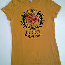Lucky Brand Women's Gryphon T Shirt Large Yellow L  Photo