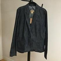 Lucky Brand Womens Jacket Blazer Size Xl Dark Blue Denim Nwt Photo