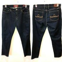 Lucky Brand Women's Size 14 X 32 Dark Wash Blue Sofia Skinny Ankle Denim Jeans Photo
