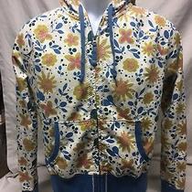 Lucky Brand Women's Size Xs Floral Print Hoodie Jacket Full Zip 100% Cotton Euc Photo