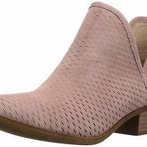 Lucky Brand Womens Baley Leather Closed Toe Ankle Fashion Boots Blush Size 6.0 Photo