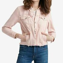 Lucky Brand Womens Denim Jacket Light Blush Pink Size Medium M Tomboy 99 434 Photo