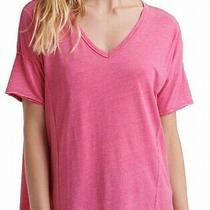 Lucky Brand Womens Top Light Blush Pink Size Small S v-Neck Seamed 34- 013 Photo