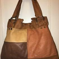 Lucky Brand X-Large Leather Patchwork Hobo/shoulder Bag/tote/purse  Photo