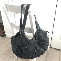 Lucky Penny Anthropologie Hobo Handbag Ruffle Purse  Shoulder Bag  Photo
