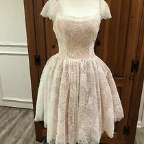 Lucy De Castenou Beverly Hills Couture Blush Pink Lace & Tulle Corset Dress M Photo