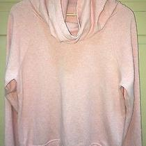 Lucy Lift It Up Pullover Sz Medium Blush Pink Heather Funnel Collar Sweatshirt Photo