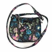 Lug Convertible Crossbody Swivel Bag Purse  Black/multi Color Floral Print Nwot. Photo