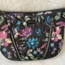 Lug Swivel Convertible Crossbody Shoulder Bag in Bloom Black Photo