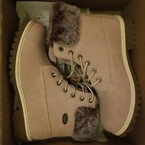 Lugz Women's Casual Pink Rose Gold Army Combat Winter Boots Size 9 Comfy Photo