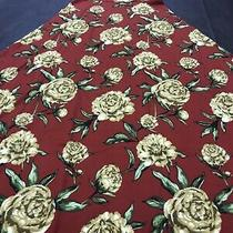 Lularoe Ana Maroon Red Blush Gold Yellow Roses Dress 3x/3xl/xxxl 22/24 Unicorn Photo