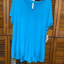 Lularoe Christy T Brand New With Tags Size 2x Solid Blue Photo