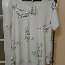 Lularoe Christy T Top 2xl Xxl  Cat Kitty Scribble Print Siamese Elegant Kitty Photo