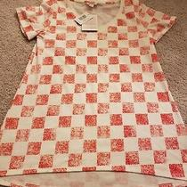 Lularoe Christy T Xs White With Red Checkers Photo