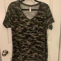 Lularoe Christy Top Camo Size Large New With Tags Photo