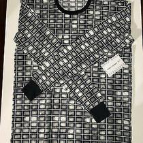 Lularoe Hudson Long Sleeve Top Nwt Black White and Gray Plaid Size Xs Photo