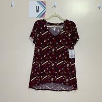 Lularoe M Christy T Shirt Burgandy School/teacher Print Photo