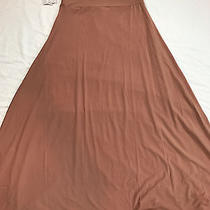 Lularoe Maxi Skirt S Small Solid Blush-Nude Color Slinky Fabric Photo
