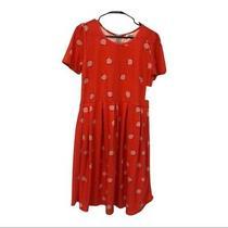 Lularoe Orange Blush Square Print Amelia Dress Photo