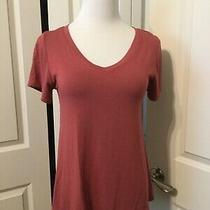 Lularoe Rose Pink Christy Tee v-Neck Shirt Size Xxs Photo