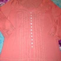 Lulu B Knit Top Coral Pink Size Xl Free Shipping Photo