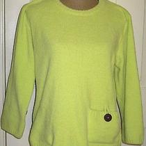 Lulu-B Lime Green Beach Comber Soft Pullover Artsy Womens Sweater Sz S Photo