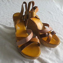 Lulu Bravo Italy Womens  Leather  Wedge Sandals Shoes Size  Eu 39  Us 8   Nwob Photo