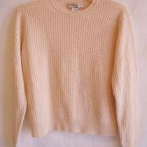 Lulu Bravo Lt-Pink Cable 100% Cashmere Sweater Sz L Photo