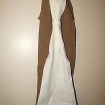 Lulu by Lulu Guinness Knit Bow Infinity Scarf Tan/ivory Colorblock New With Tag Photo