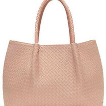 Lulu Dharma Light Pink Blush Napa Vegan Woven Bag Tote Purse New Tags  Photo