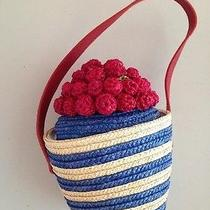 Lulu Guiness Rare and Unique Straw Handbag ... Life Is a Bowl of Cherries Photo