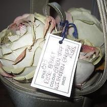 Lulu Guiness Style 013 Green Taffeta With Green English Roses Photo