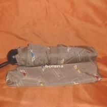 Lulu Guinness Dog Print Folding Umbrella Nwt Photo