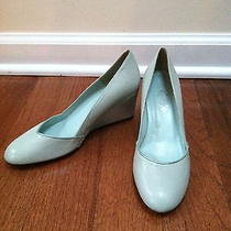 Lulu Guinness Genuine Leather Wedge Shoes Size 37 (7us) Photo