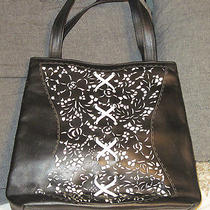 Lulu Guinness Iconic Black Tote Vintage Designer Bag  Photo