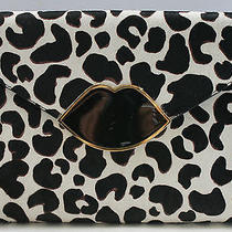 Lulu Guinness Leo Leila Clutch Bag Snow Leopard Print Sold Out Rrp 375  Photo