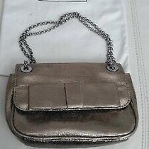 Lulu Guinness Small Shoulder/ Clutch Bag Champagne Gold Leather Photo
