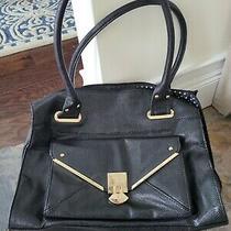 Lulu Guinness Womens Envelope   Handbag Gold Hardware Purse Tote Black  Photo