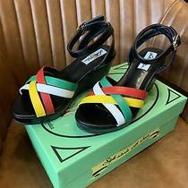 Lulu Hun Sandals Wedge Ankle Strap Platform Size 5 Photo