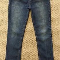 Lulu Luo Stretch Denim Jeans Slim Leg Girls Size 16 Inseam 28 Embroidered Pocket Photo