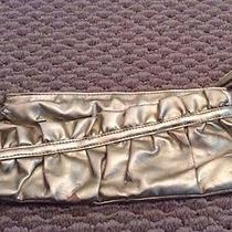 Lulu Metalic  Gold Zipper Clutch Holiday  Purse Evening Wristlet  Photo