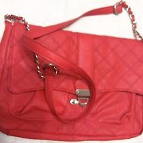 Lulu Nyc Handbag Crossbody Small Shoulder Bag Flap Clutch Closure Red Photo