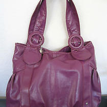Lulu Nyc Purple  Slouchy Hobo Handbag Purse Tote Photo